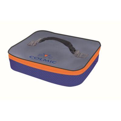 PVC: Műanyag csalis doboz tároló táska (32,5x26,5xh.6,5 cm)