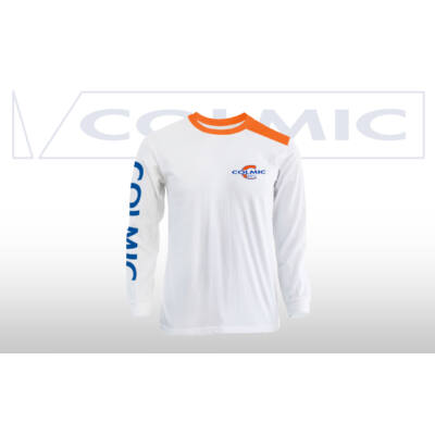 T-SHIRT LONG SLEEVES: WHITE/ORANGE Tg. S-3XL