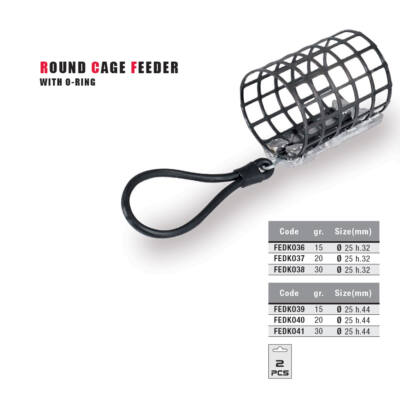 Round Cage Feeder with O-ring (25x32)-30 gr