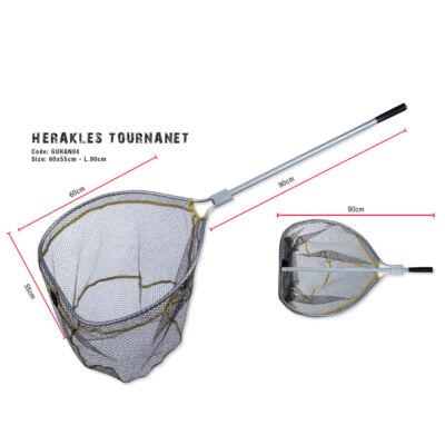 Herakles Tournanet merítőszák (60x55 cm L.90 cm)