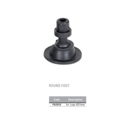 Round foot talp, 25mm