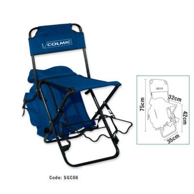 Összecsukható szék táskával és bottartóval
