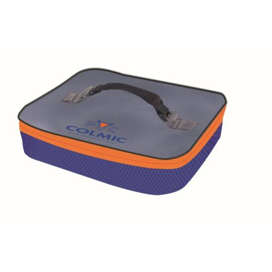 PVC: PLASTIC BAIT BOX HOLDER (32,5x26,5 x H.6,5cm) Orange Series