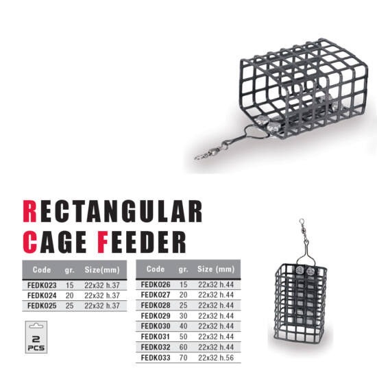 Rectangular Cage Feeder (32x37)-25 gr