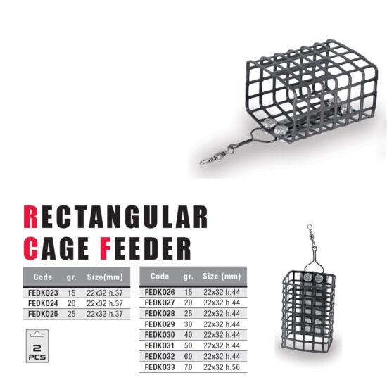 Rectangular Cage Feeder (32x44)-15 gr