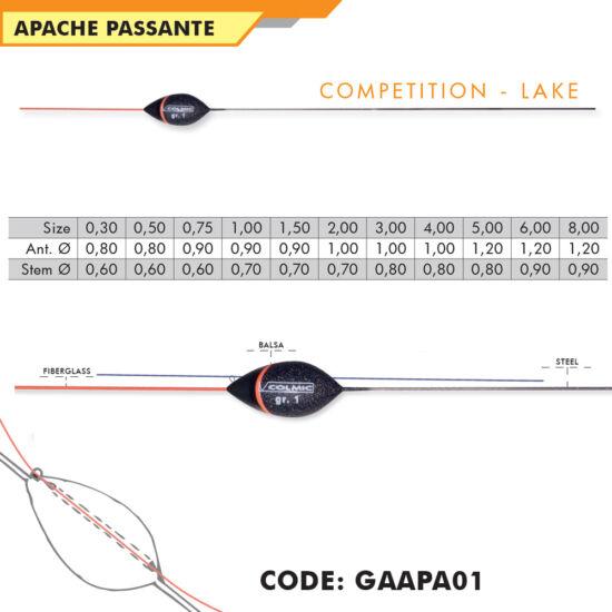 APACHE versenyúszó, 0,30g-8g