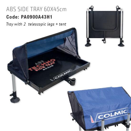 ABS oldalsó tálca ernyővel és két teleszkópos lábbal, 60X45 cm